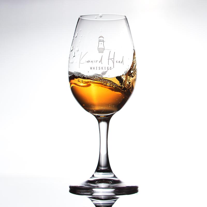 Copita Glass with Kinnaird Head Whiskies Logo